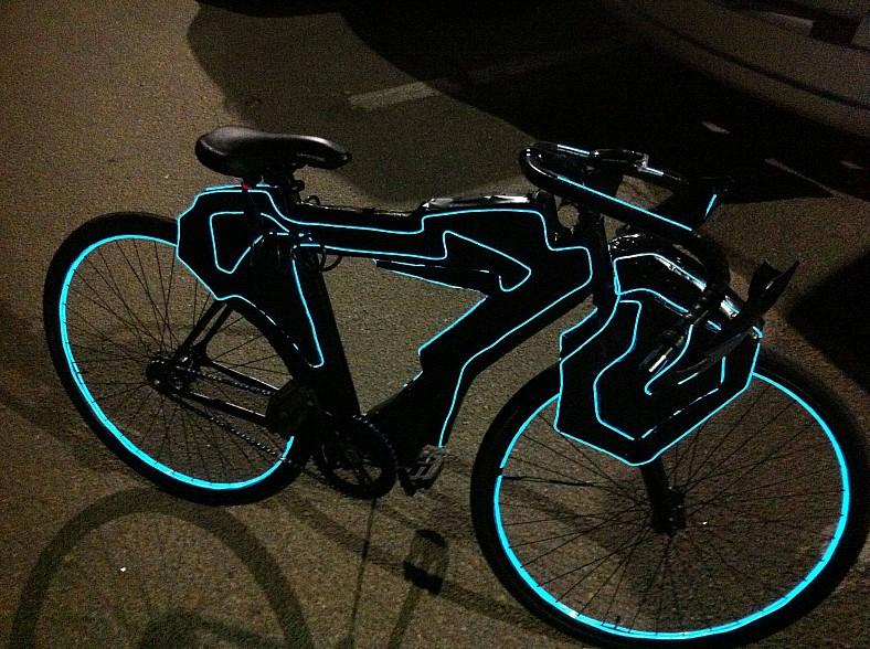 Велосипед подсветка своими руками фото