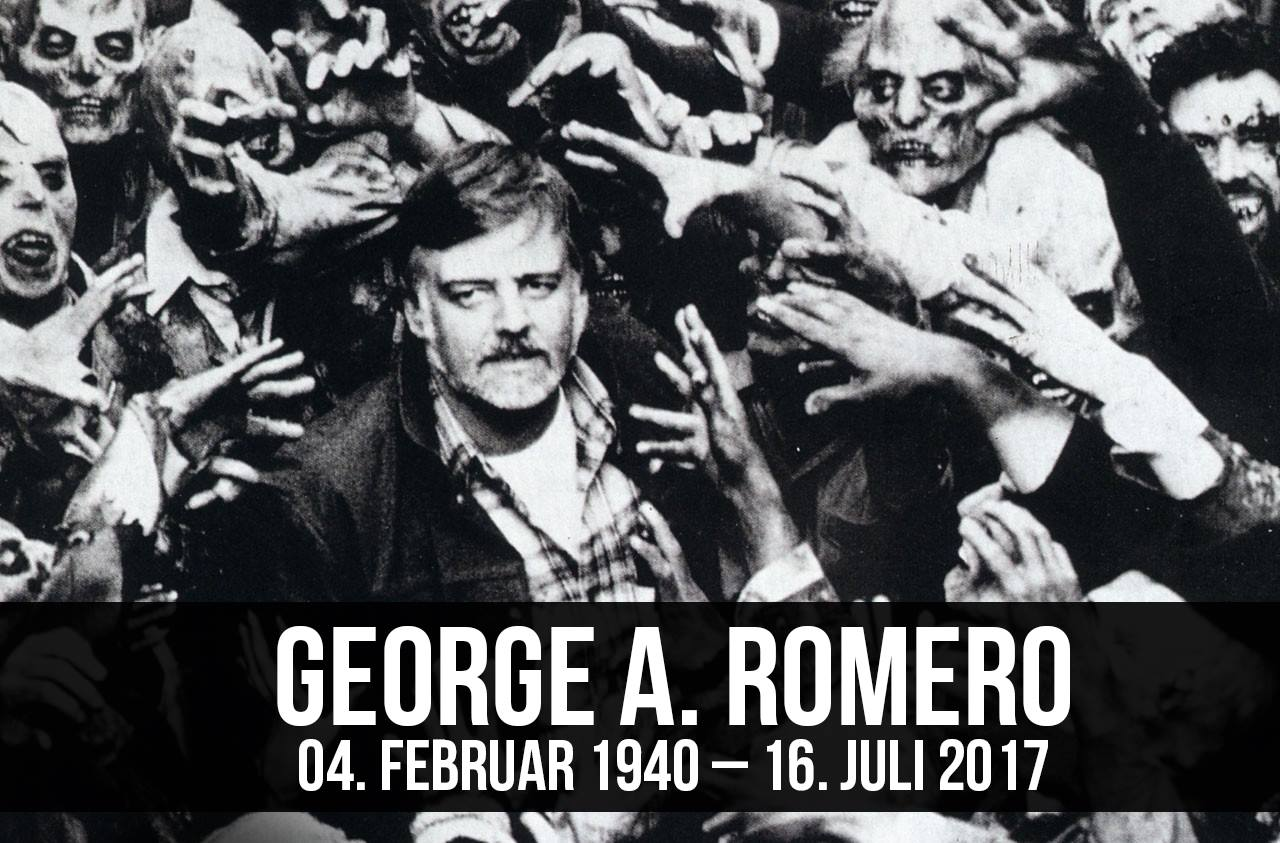 Adorno der Zombies George A. Romero Krebs der Hurensohn Logos verkackt Night Of The Living Dead R.I.P. Rest in Peace RIP in Peace Ruhe in Frieden Vater der Zombiefilme