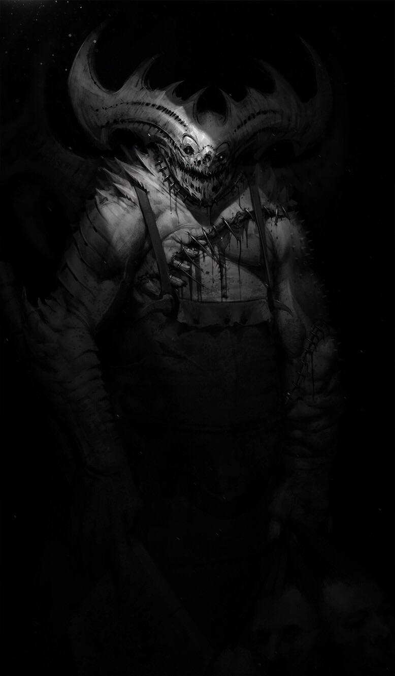 art by Jeff McAteer Creepy Fresh meat Griselbrand The Butcher