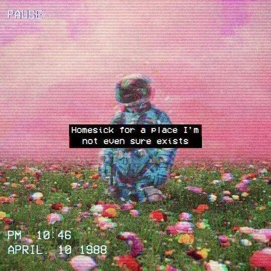 1988 April. 10 1988 Astronaut Blumenfeld Depression Fernweh Hiraeth Homesick Mittwochsdepression PAUSE