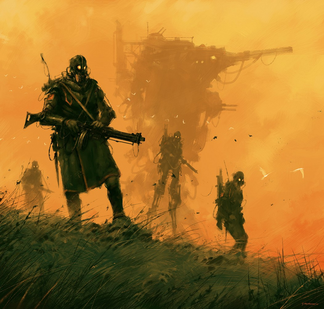 1920 by Jakub Rozalski Concept Art Silent Guards