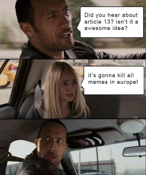 9Pr0 Artikel 13 eu != europa EU der Hurensohn meme memecontest the rock