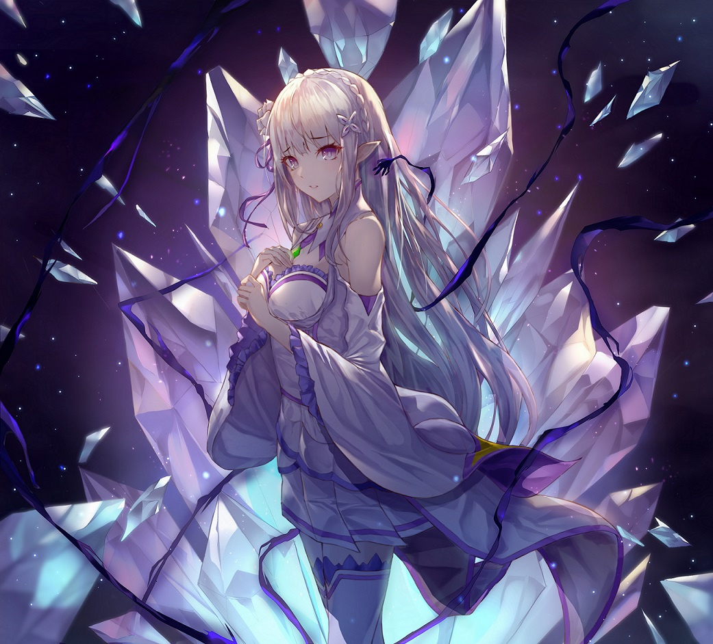 anime Best girl Emilia Re:Zero