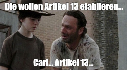 Artikel 13 Carl Coral memecontest SaveTheInternet The Walking Dead
